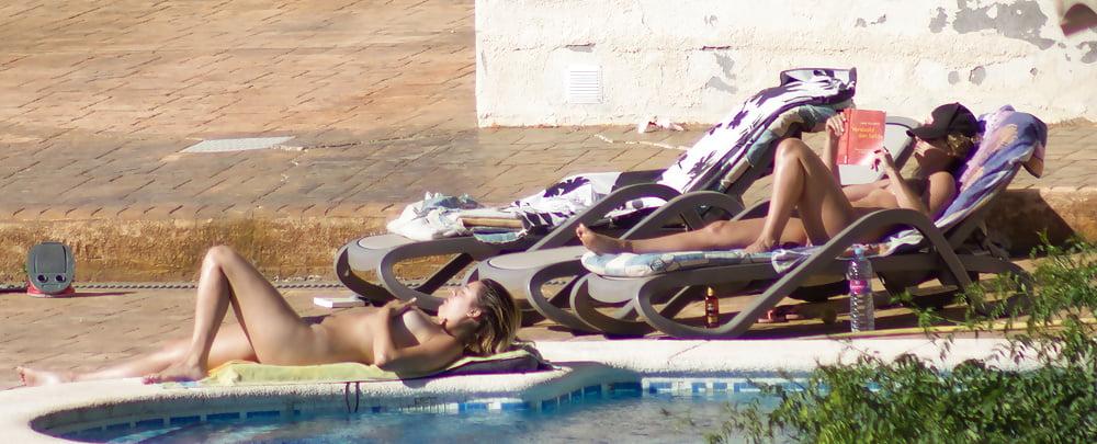 Nudist pool fun