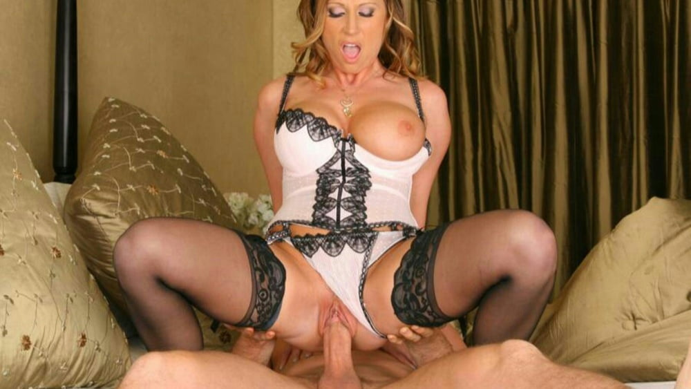 Asian in lingerie riding cock