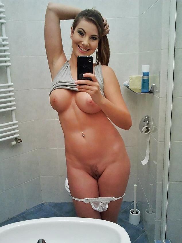 Selfshot toilet naked