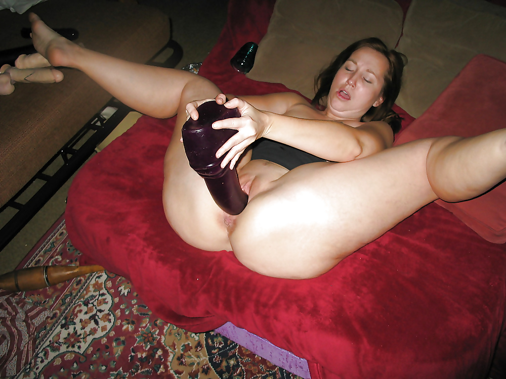 Wife with big dildo