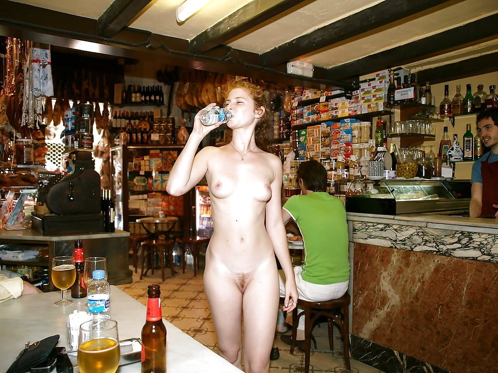 Wife got naked in bar