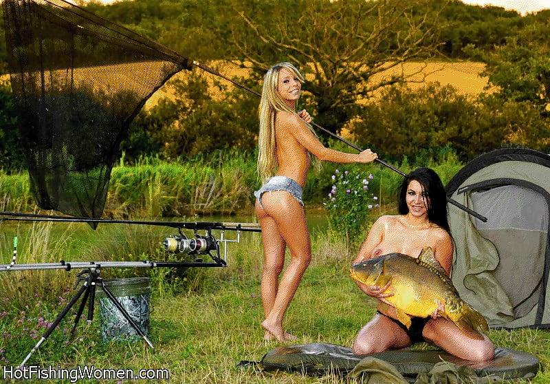 Girls Fishing Naked Women