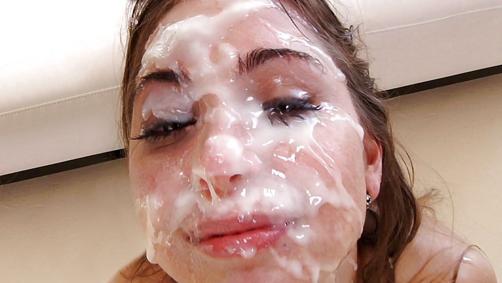 Jizz covered face