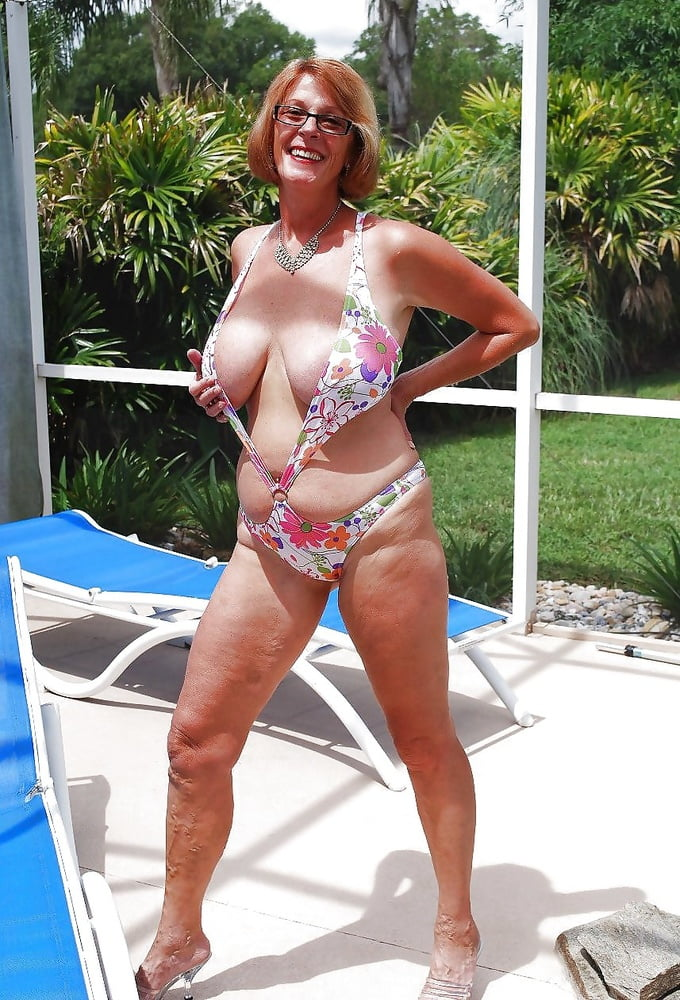 Old Lady In Swimsuit