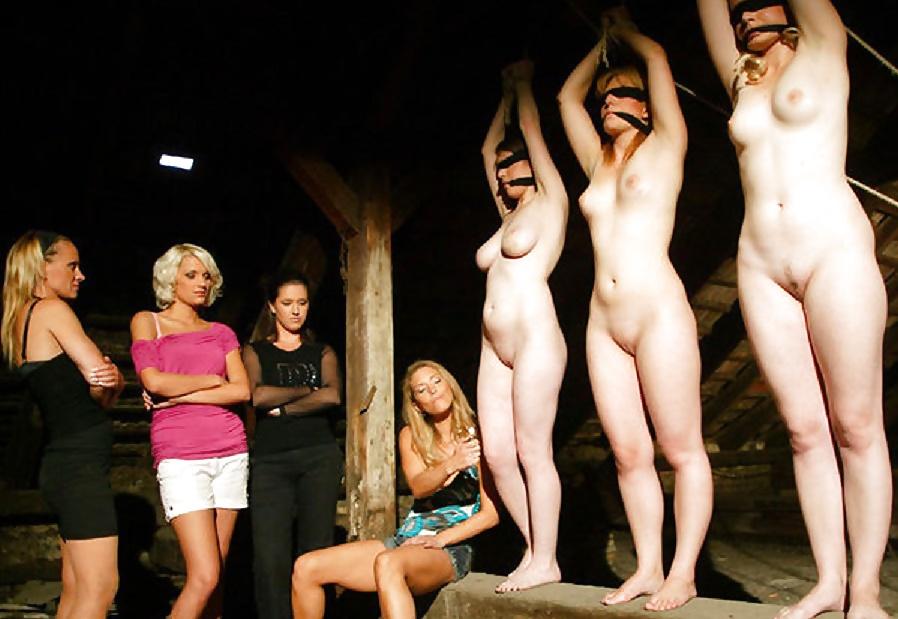 Nude female slave, redhead color