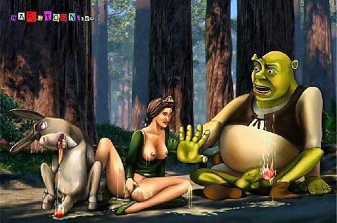 Porno de shrek something is