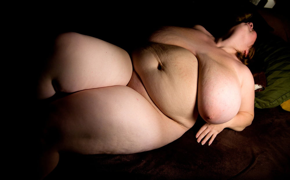 Sexy fat woman big breasts lingerie stock photo