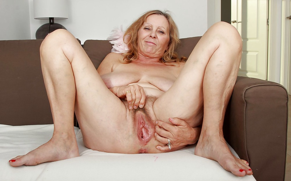 Black And White Cocks Drilling Pussy Of Raunchy Old Woman