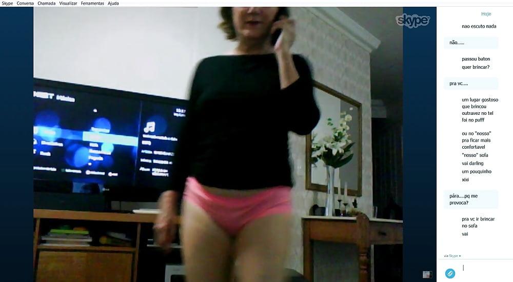 Masturbieren bei skype am telefon