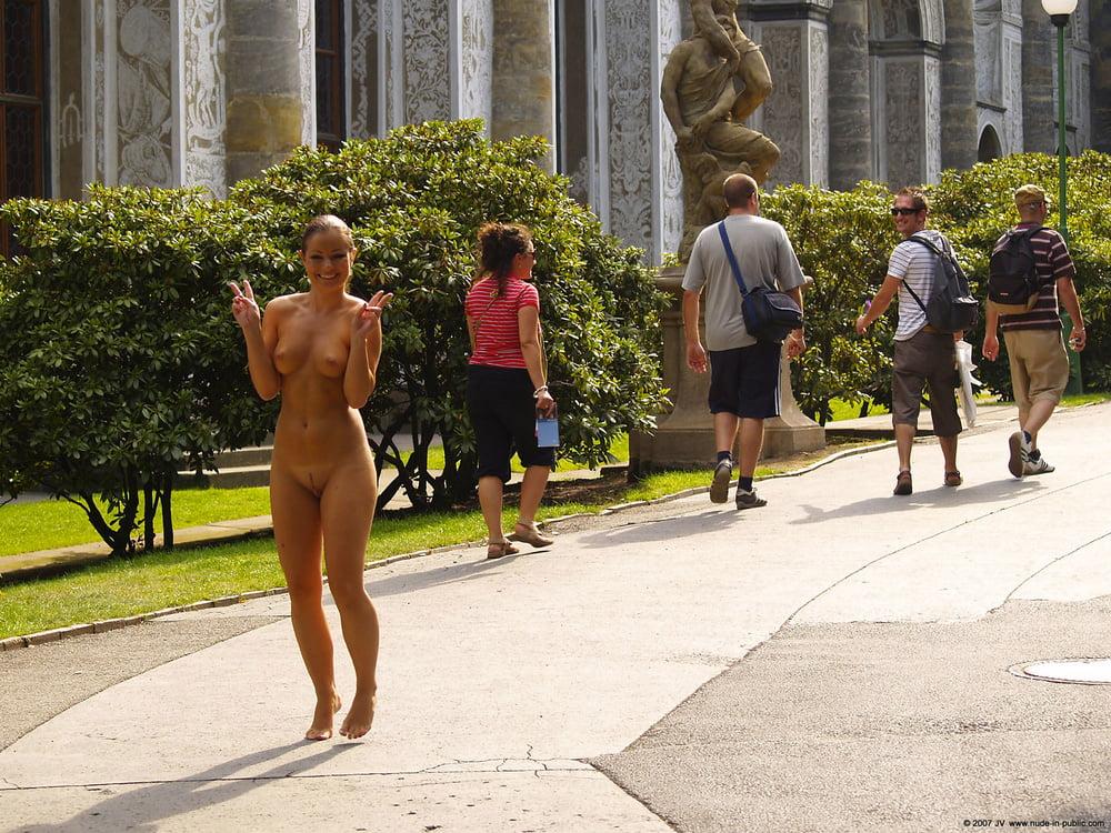 Czech nude in public