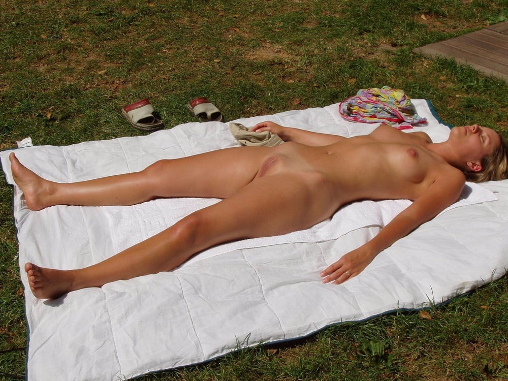 Tanning Beach Pink Thong Swimsuit Nude Naked Pose Sexy Woman