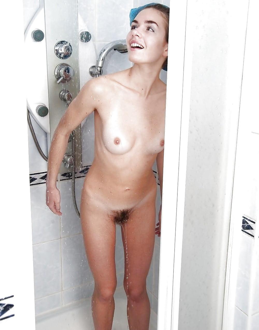 Hot girls caught naked in shower