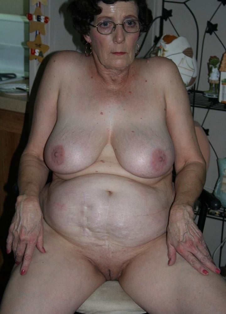 Chubby Granny With Huge Saggy Breasts Loves Being Naked All The Time
