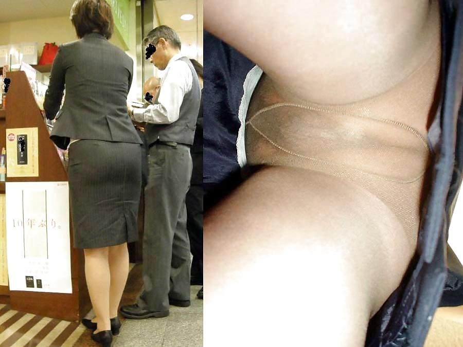 Milf upskirt in the office