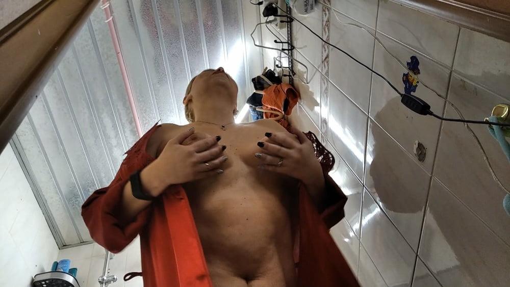 Hot russian MILF Aimee sucking & masturbates in shower! - 201 Pics
