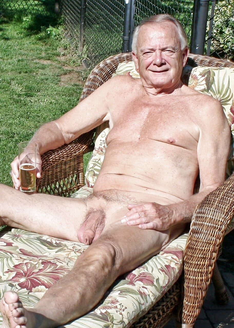 Really Old Naked Grandpa Cum