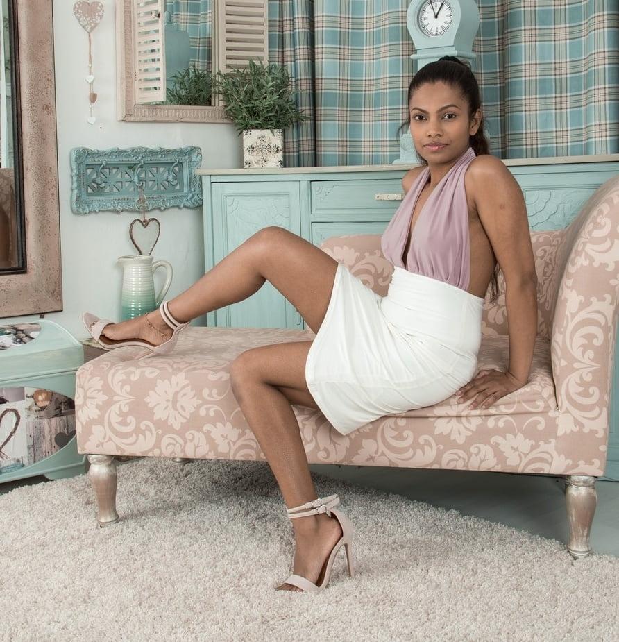 Hairy Indian Alishaa Mae - Purple Top White Skirt - 103 Pics