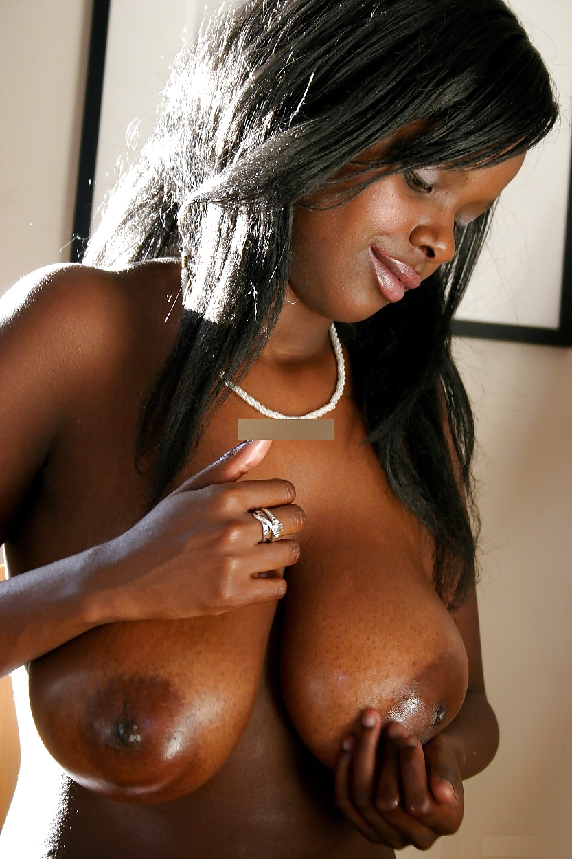 Black african sexy boobs, ass dildo fucking hard