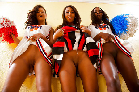 Black nude cheerleaders
