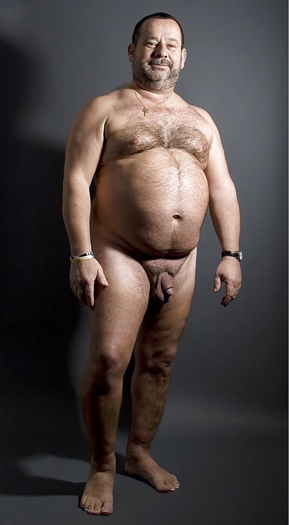 Fat nude men washing cars