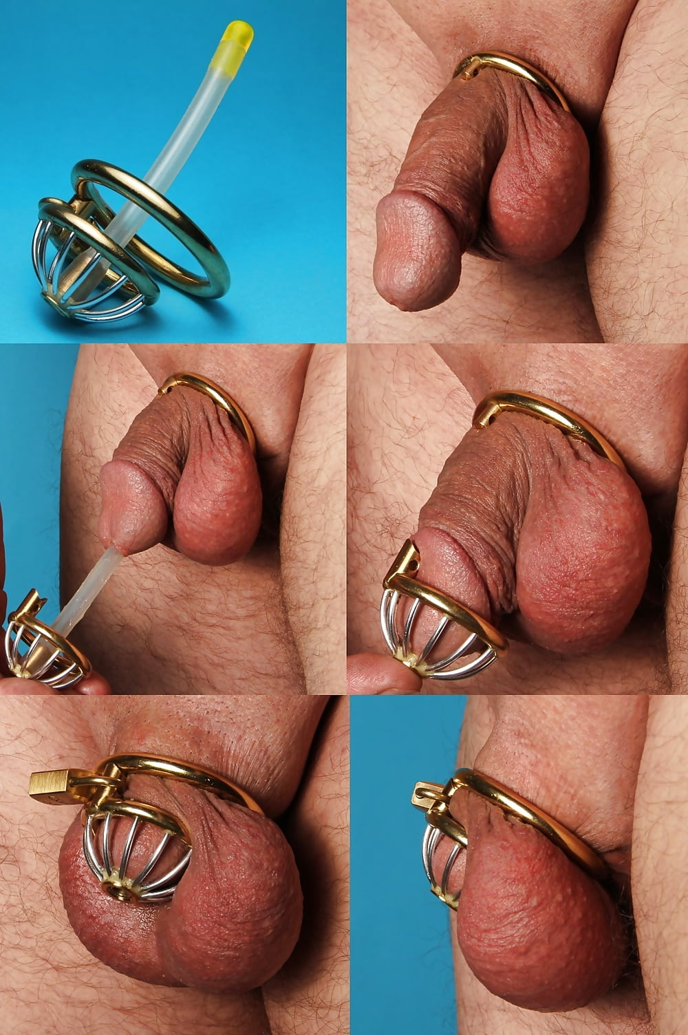 Small penis locked in permanent chastity humiliation