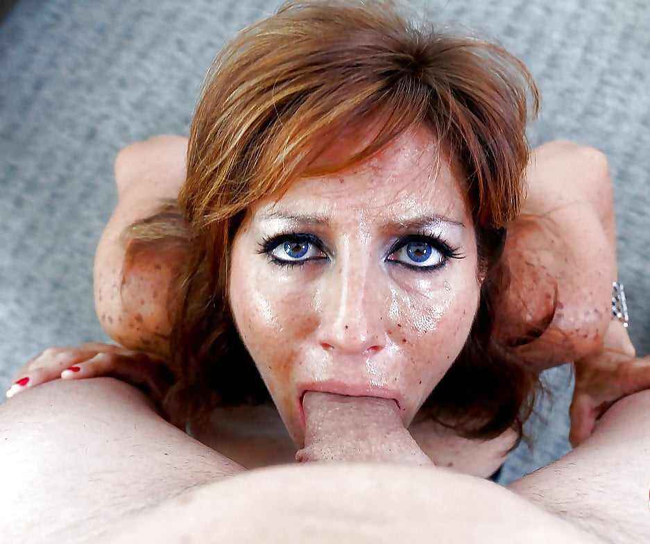 Mature mom swallows — pic 14