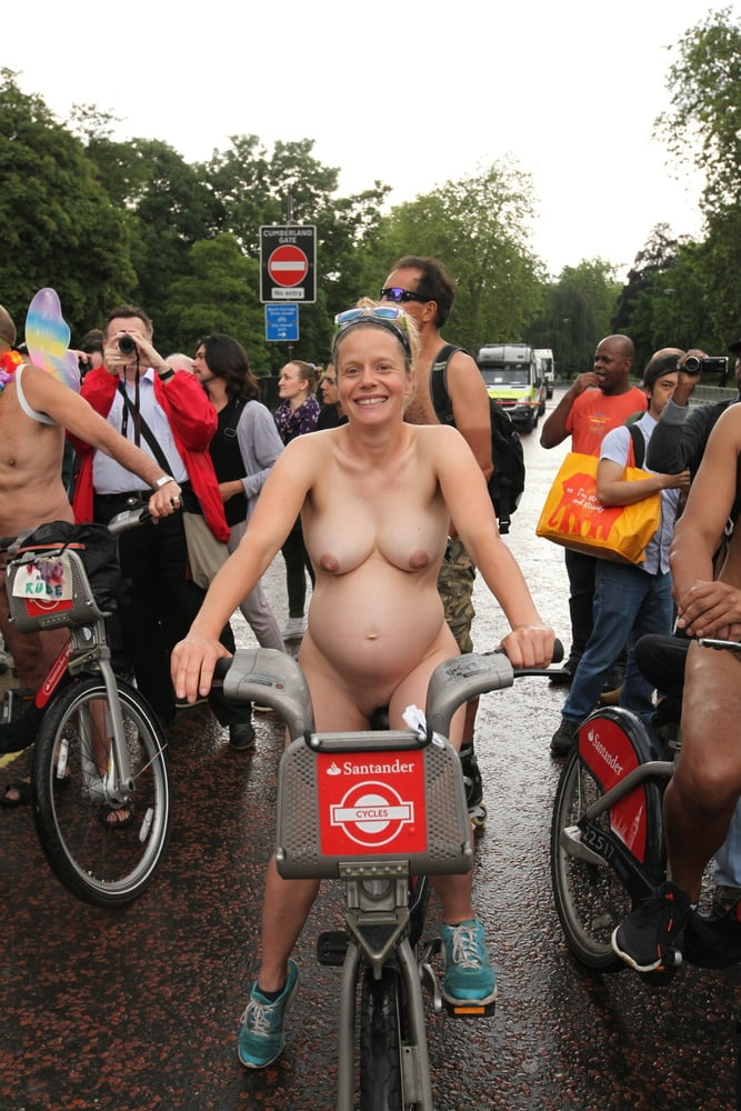 Well. very pregnant nude on bike