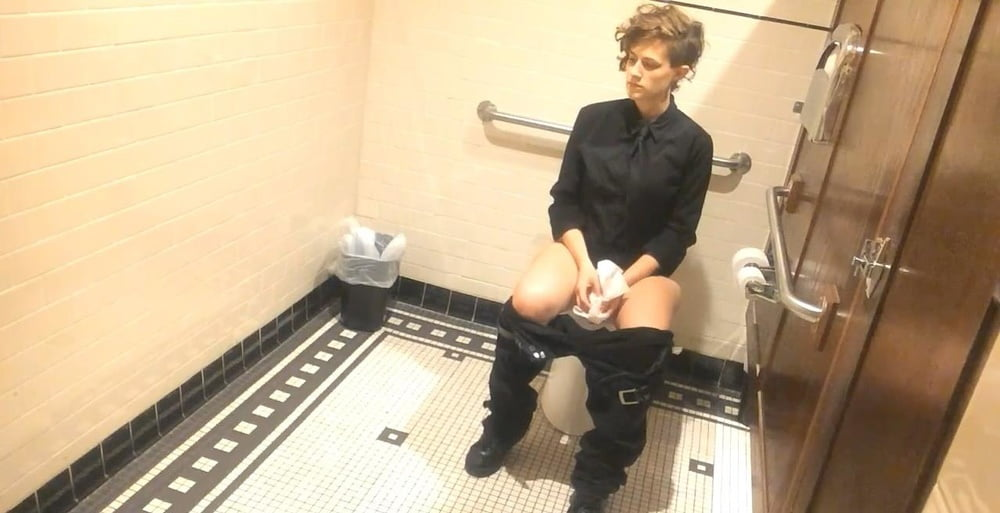 Miss cannabis spied and used in the bathroom - 2 4