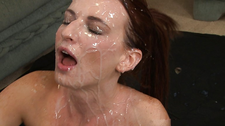 Huge cum mouth explosion after multiple female orgasms handjob blowjob