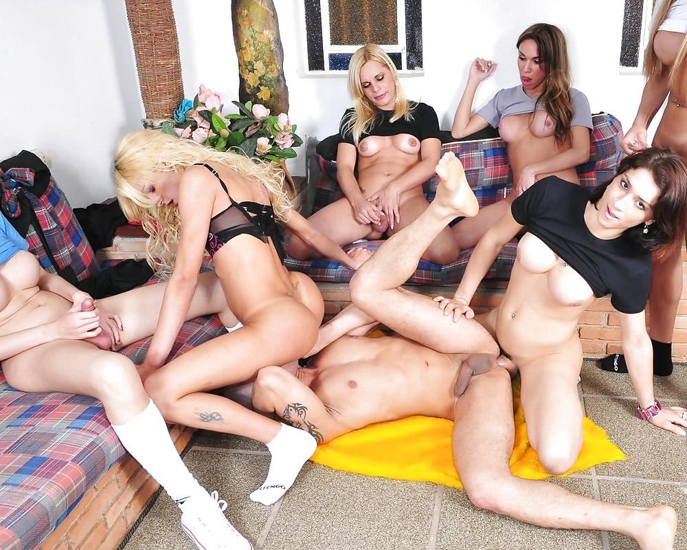 T Girl Orgy