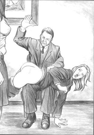 otk spanking art mix