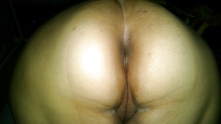 My wife's nice ass and fat pretty pussy.