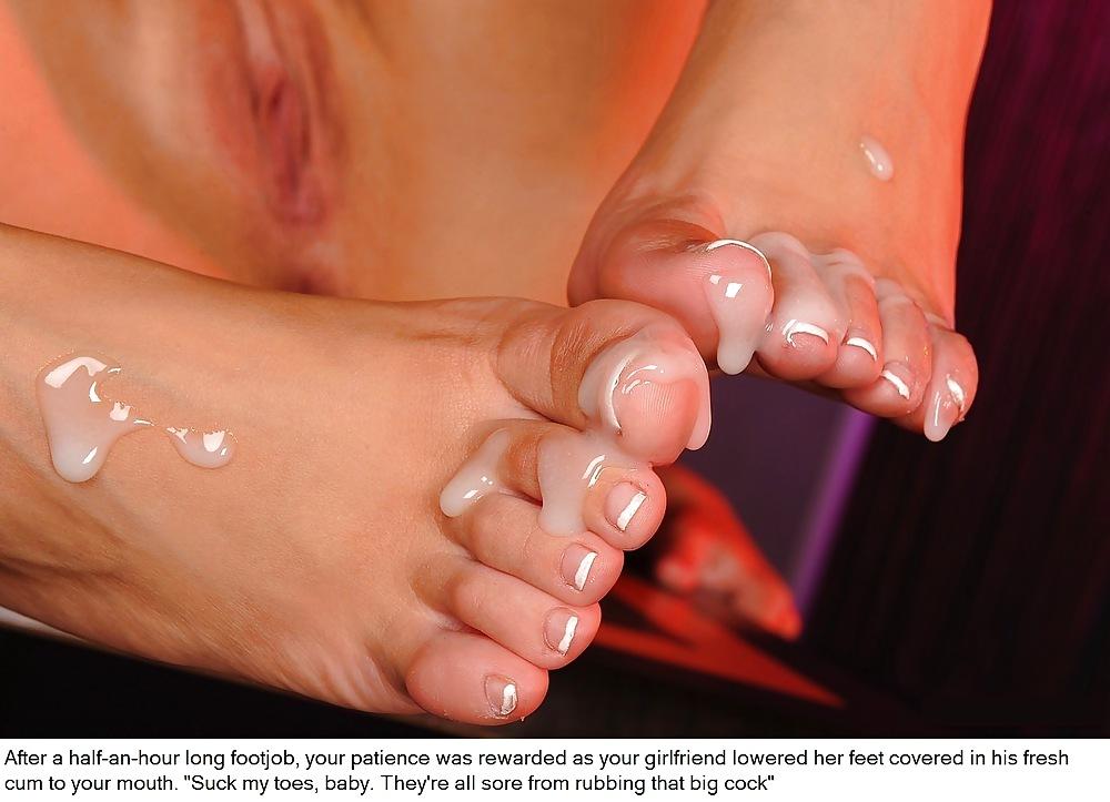 Фото спермы на красивых ногах фут фетиш