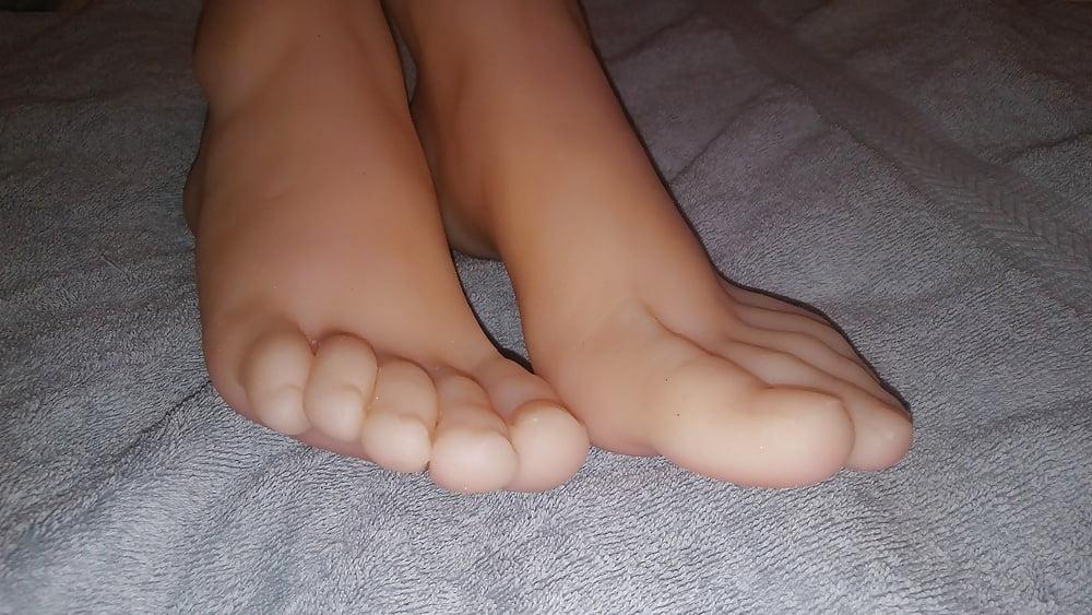Stocking footjob sex