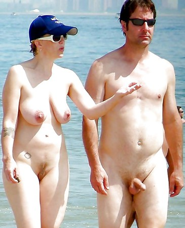very loving couples walking around outdoors naked