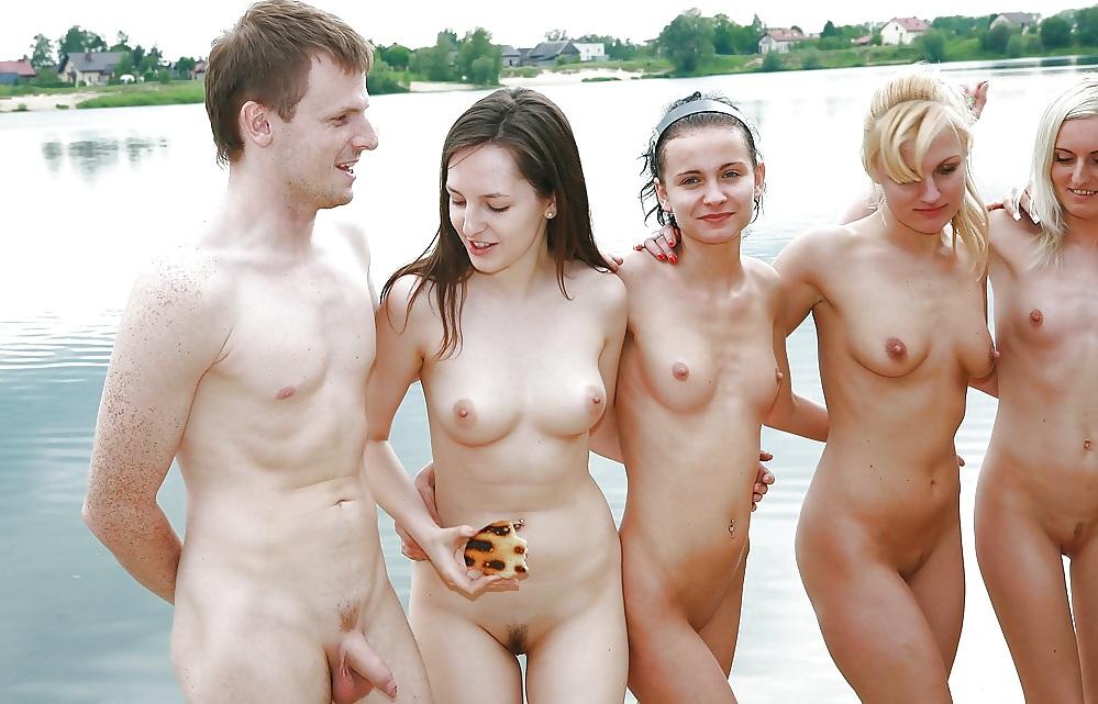 Teenage nude and men #4