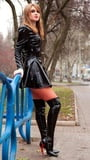 Redheads in Leather,thigh boots or latex 2