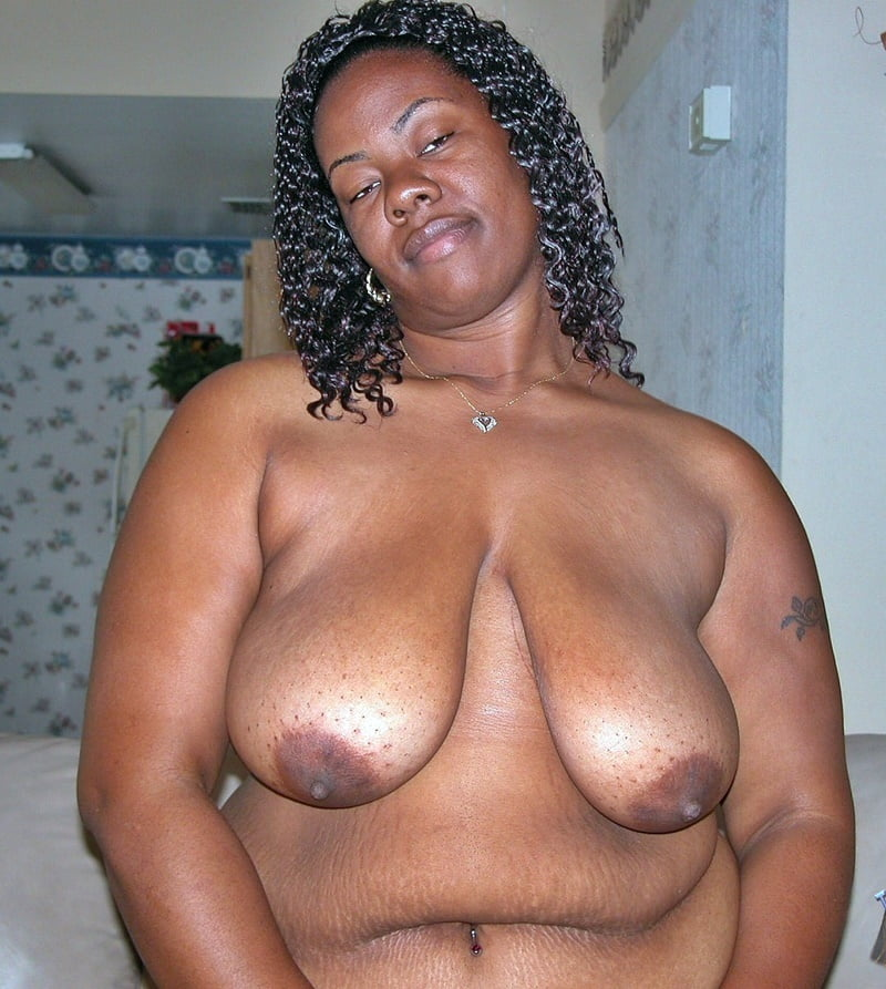 Old black saggy tits