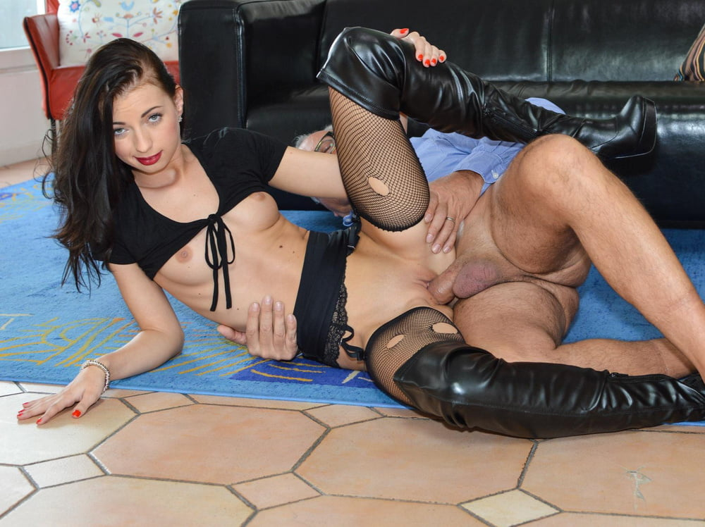 Bound Babe In White Thigh High Boots Fucked