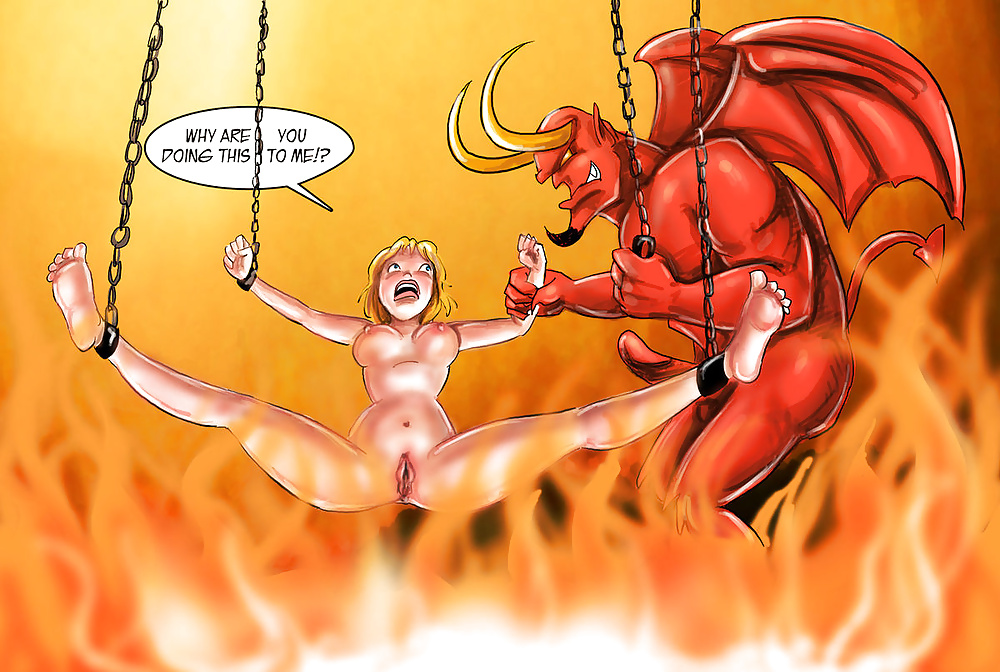 Devil sex with a redhead girl who fell to hell