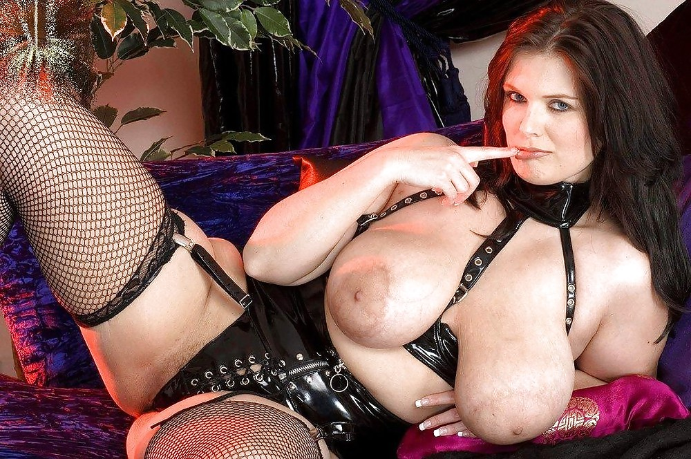 Watch breasts in latex