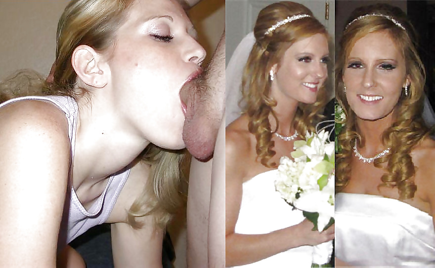 Nude amateur bride dressed and undressed would