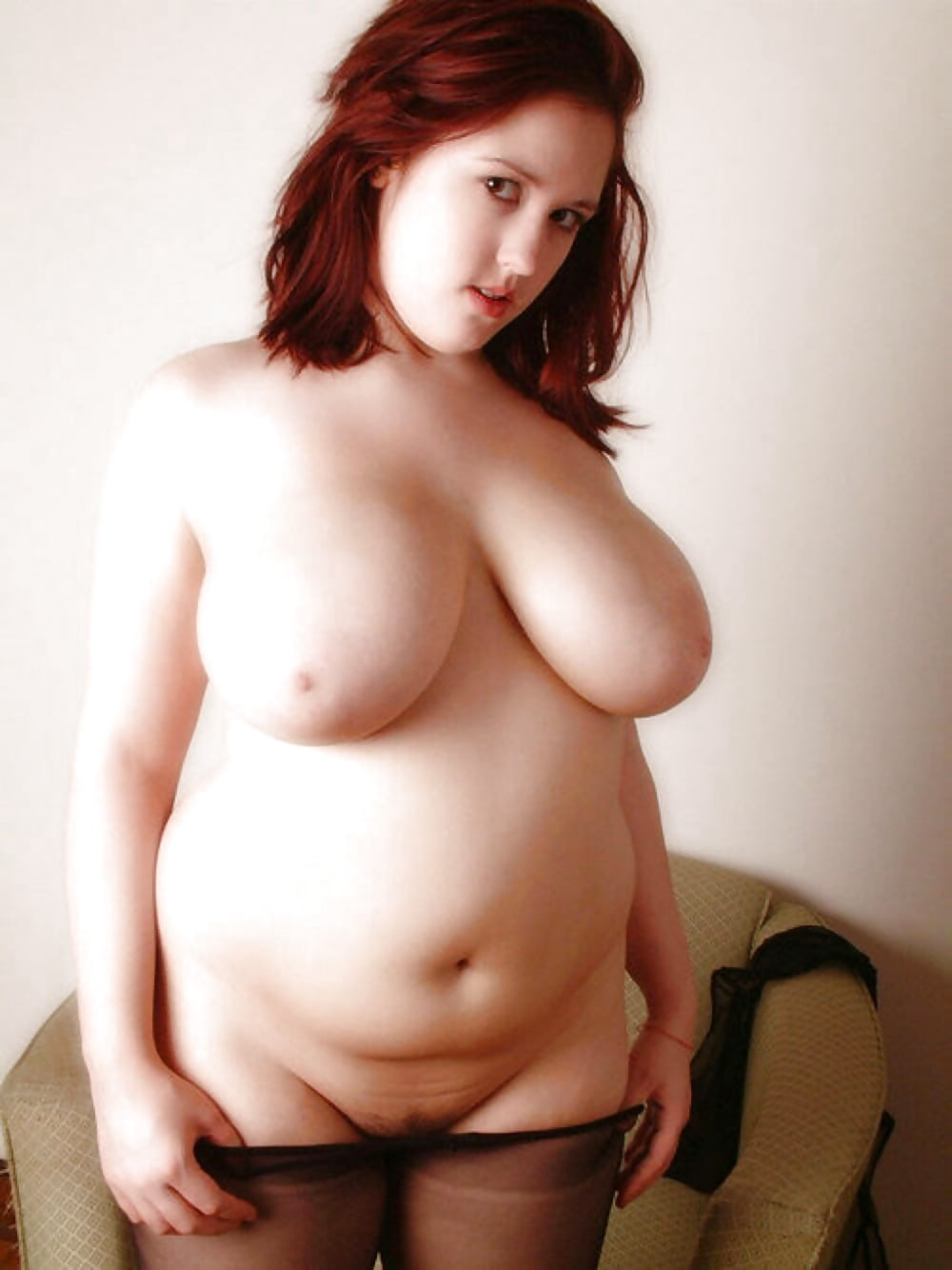 Cute young hot chubby girl portrait stock photo