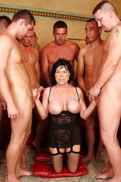 Nude mothers gangbanged