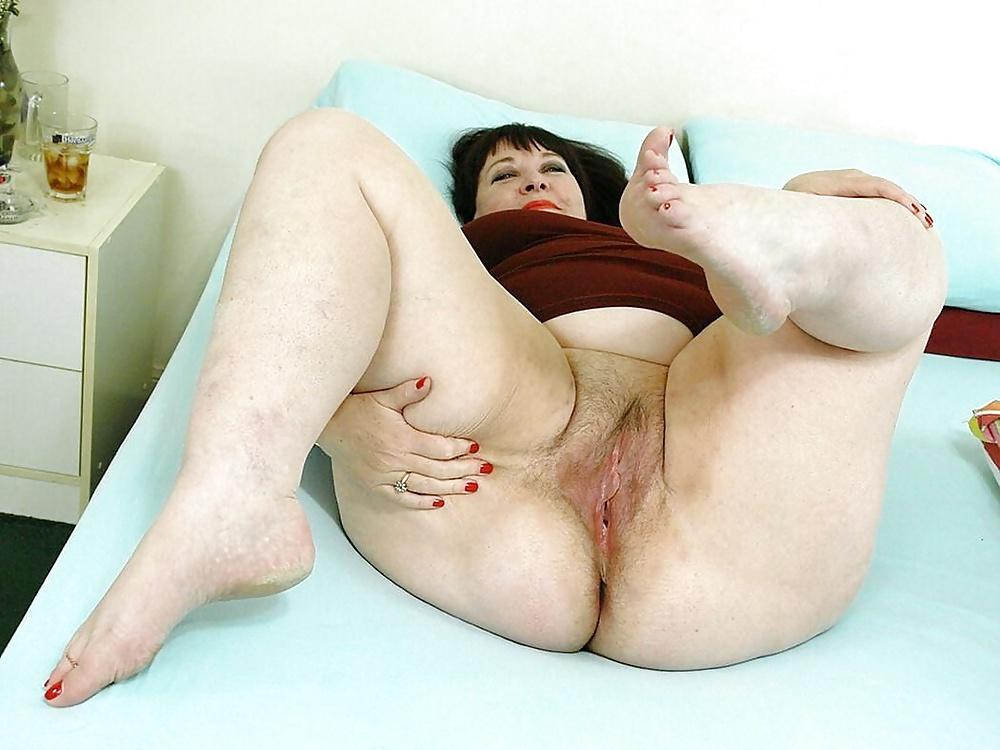 Fat Mature Woman Stock Photo