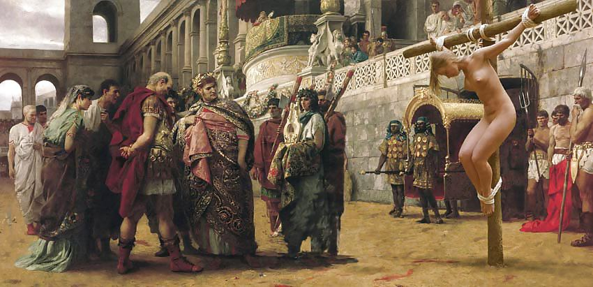 Roman gladiators nude