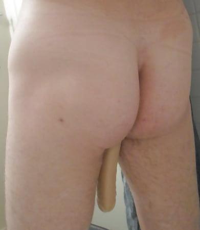 my ass with a huge dildo