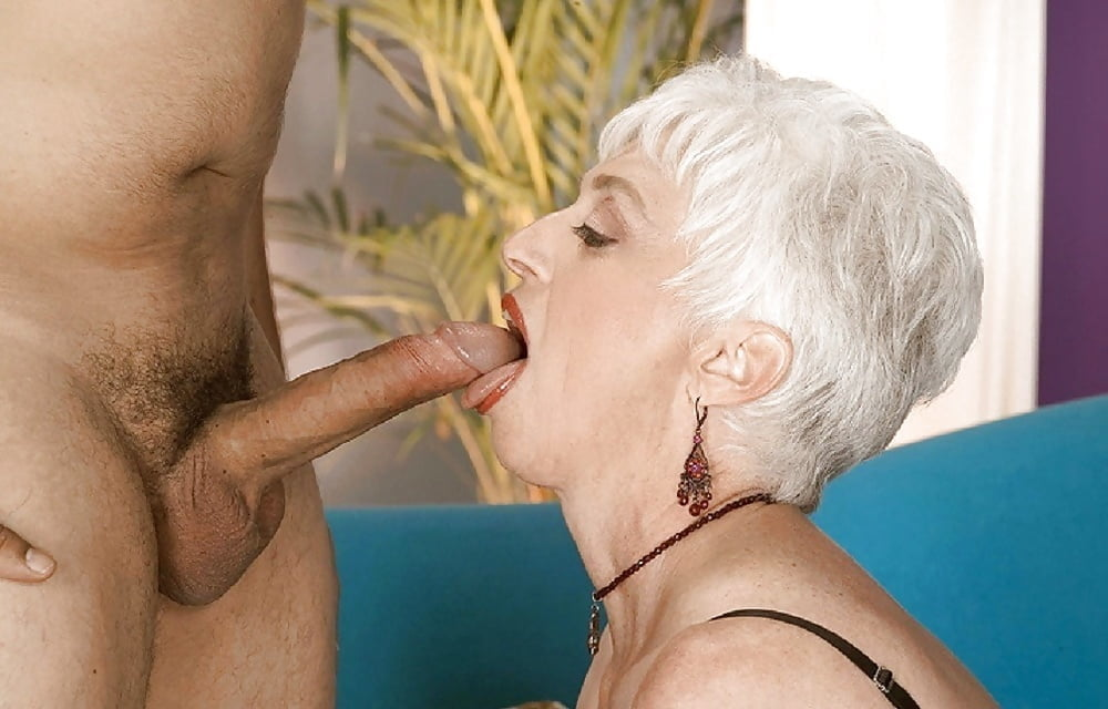 Old lady big tits big dick