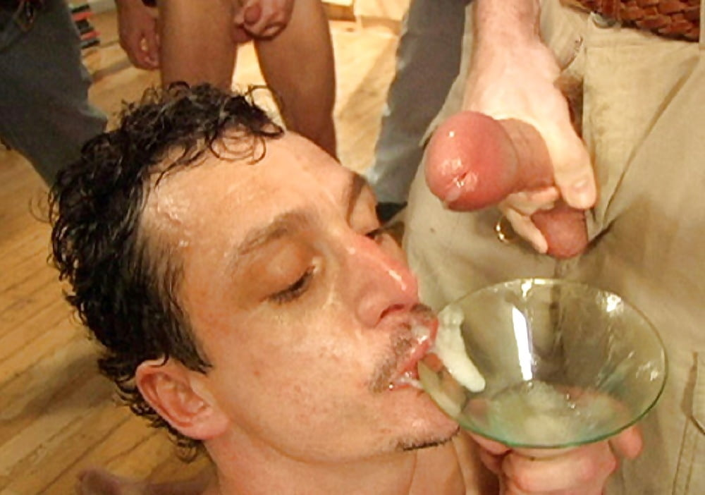 Drinking female cum
