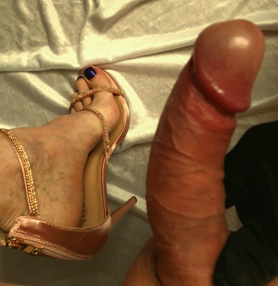 High heel cock play